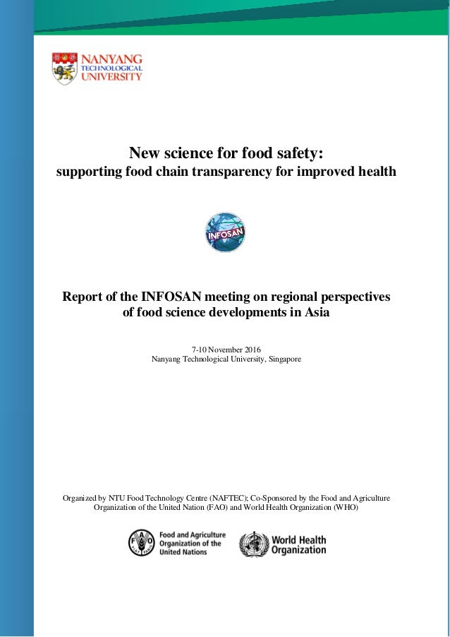 New science for food safety: supporting food chain