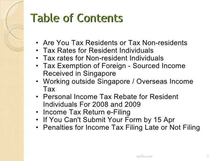 how to pay income tax singapore