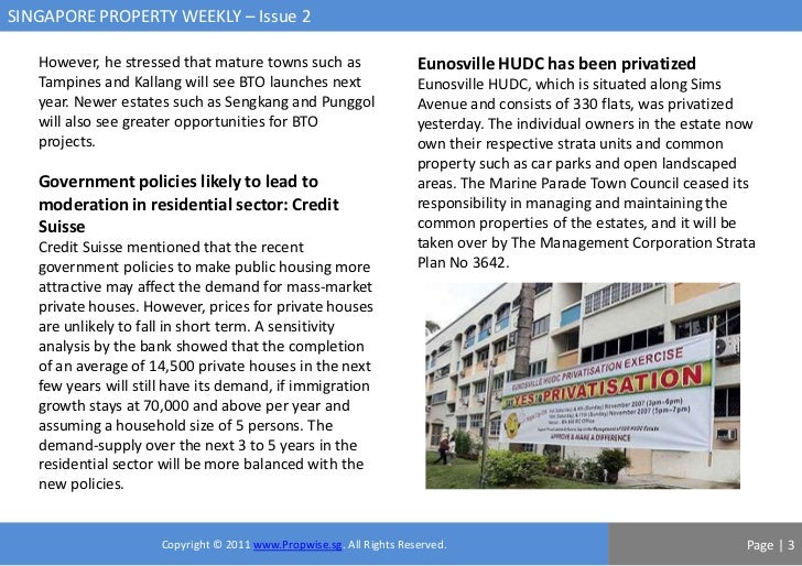 SINGAPORE PROPERTY WEEKLY – Issue 2   However, he stressed that mature towns such as                     Eunosville HUDC h...