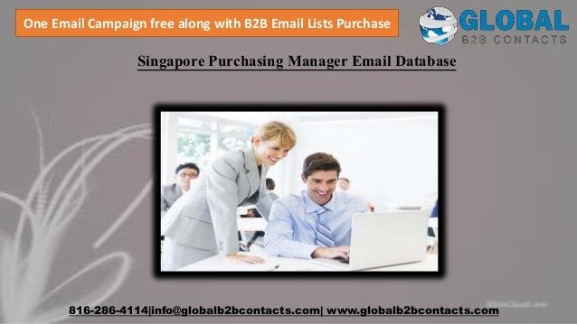 Singapore purchasing manager email database