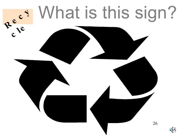 What is this sign? Recycle