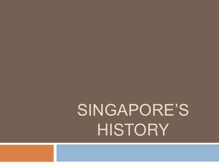Singapore's History<br />