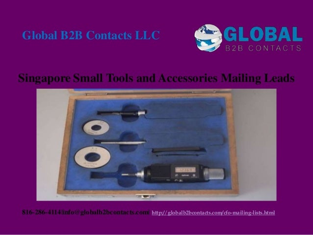 Singapore small tools and accessories mailing leads
