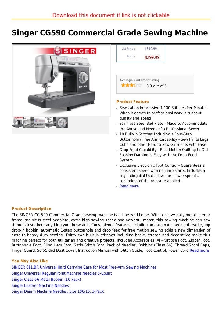 Singer Cg40 Commercial Grade Sewing Machine Impressive Commercial Grade Sewing Machine