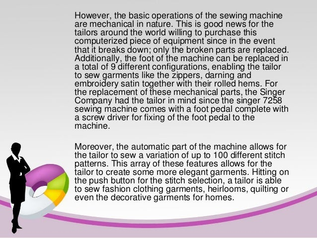 singer sewing machine 7258 reviews