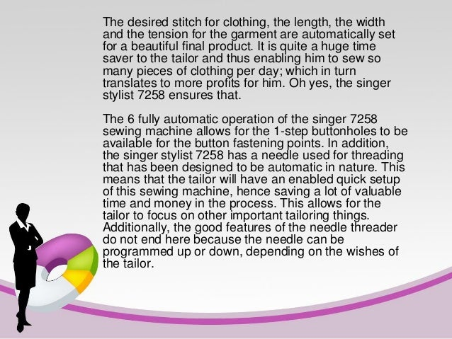Must Read Singer Stylist 40 Sewing Machine Review Awesome Singer Stylist 7258 Sewing Machine Reviews