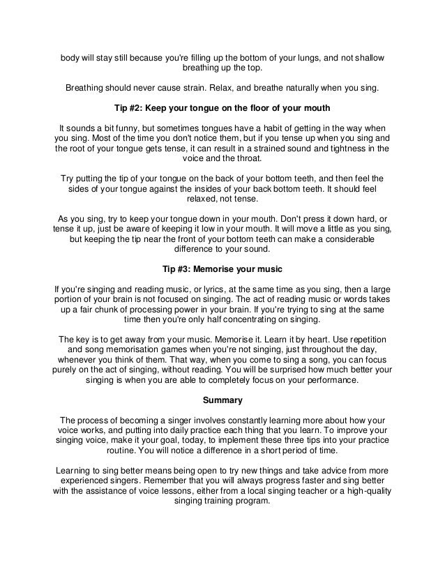 Singing Tips That Will Have People Saying WOW