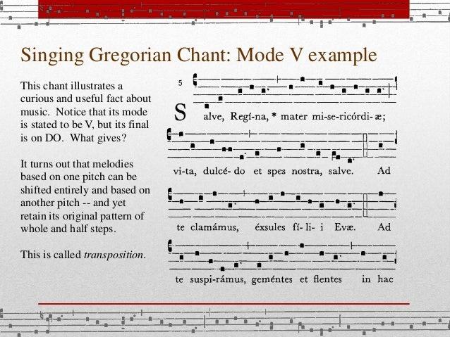 Singing gregorian chant