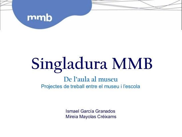 Singladura MMB           De l'aula al museu Projectes de treball entre el museu i l'escola            Ismael García Granad...