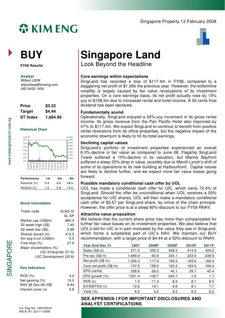 Singapore Property 13 February 2008     BUY                                                                               ...