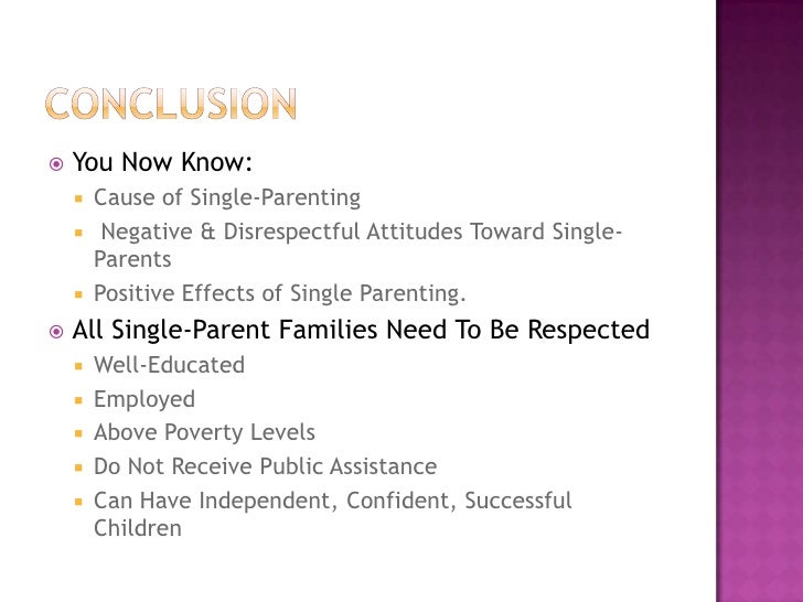 cause and effect single parent