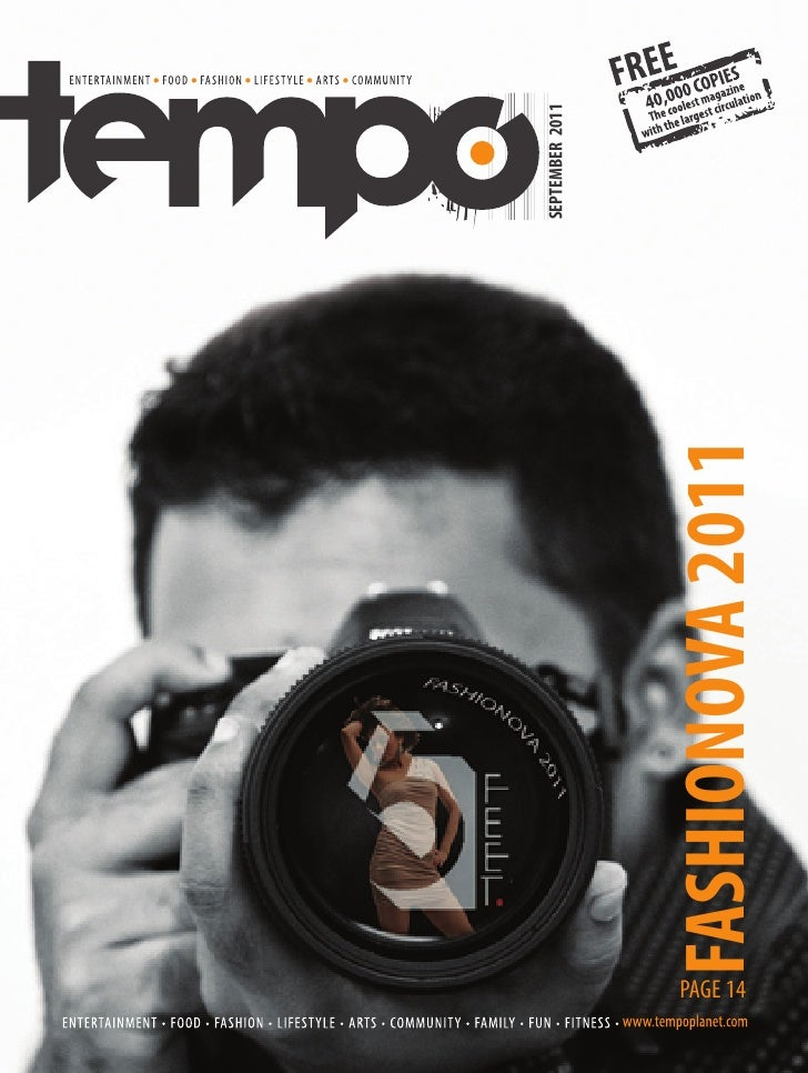SEPTEMBER 2011PAGE 14      FASHIONOVA 2011
