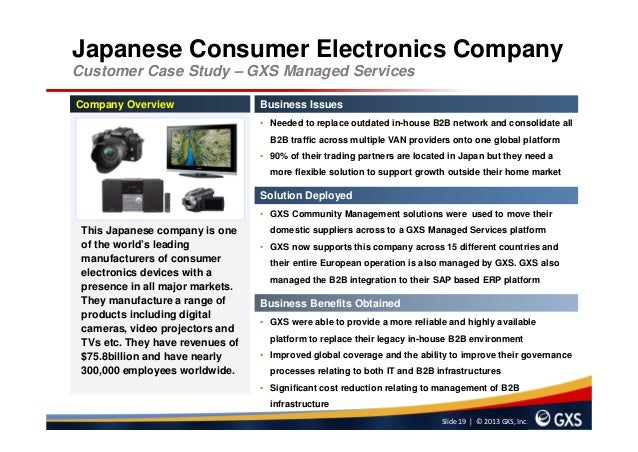 case study electronics industry Carlyle acquired a minority stake in beats electronics llc in  deep industry expertise  the information provided in these case studies is for informational .