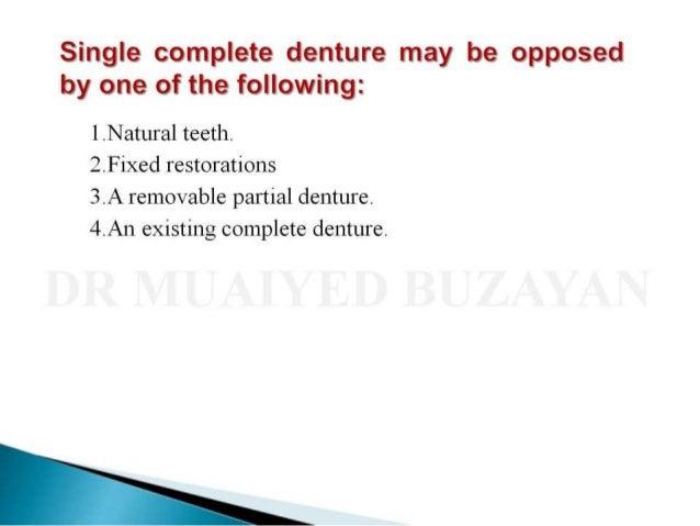 Single denture Slide 3