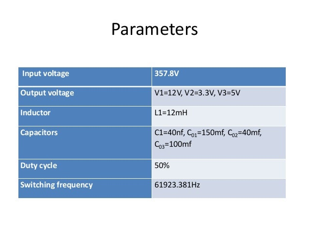 Design of DC-DC Converter for SMPS with Multiple isolated outputs.