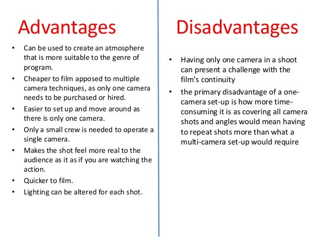 disadvantage of action movie Advantages over live action a movie that contains so large amounts of cgi that  the actors would have to stay in front of a bluescreen and interact with invisible.