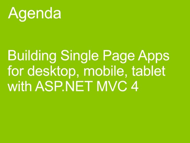 Single page applications in asp.net mvc 4