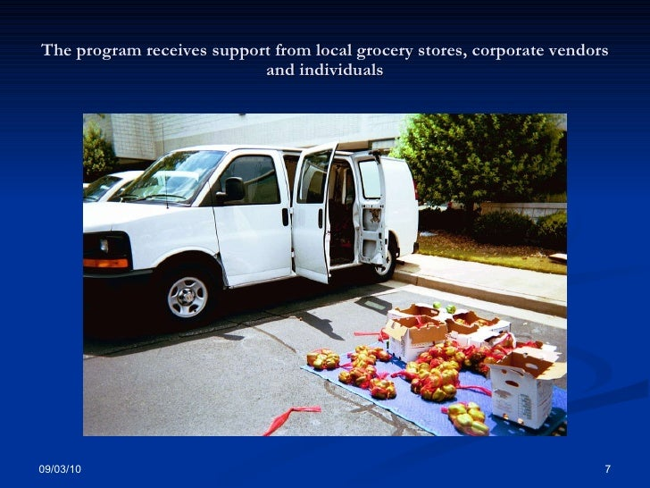 The program receives support from local grocery stores, corporate vendors and individuals