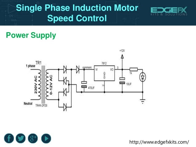 Single phase induction motor speed control for Speed control of induction motor