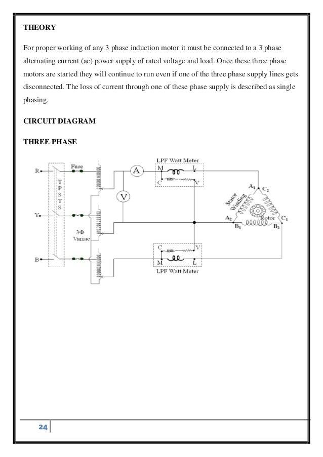 single phasing of three phase induction motor 3 Phase Synchronous Motor Wiring Diagram