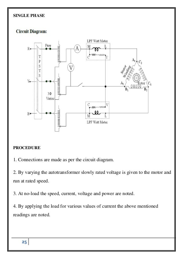 single phasing of three phase induction motorcircuit diagram three phase; 25