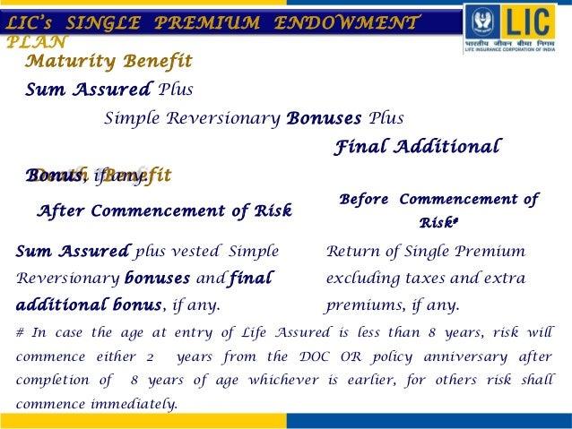 Single Premium Endowment Plan 817