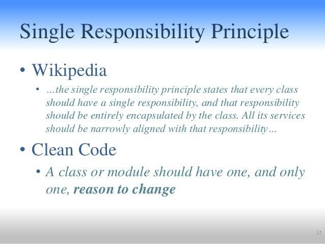 wiki single responsibility principle
