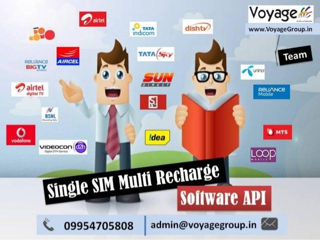 Leading Single SIM Multi Recharge Software API in India