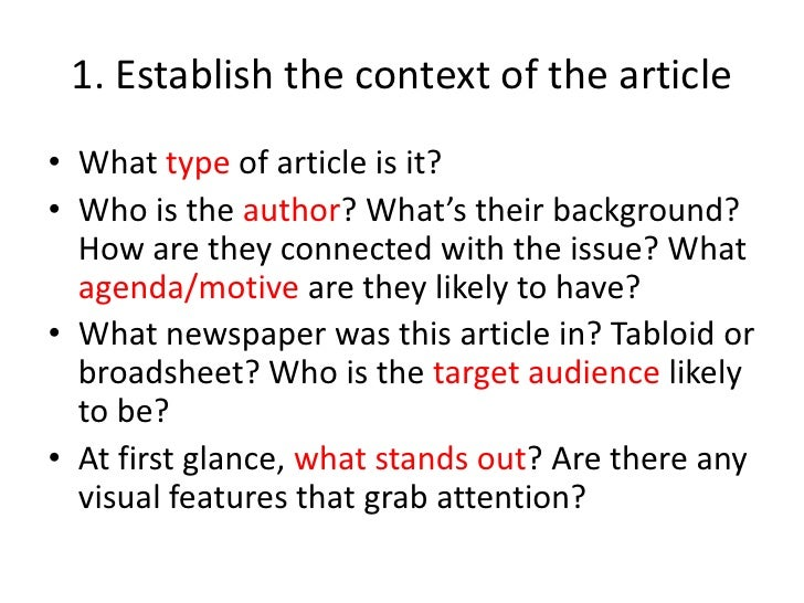 analyze article essay Article analysis essays1 determining whether an article is fair depends on a number of things, not the least of which is personal bias save your essays here so you can locate them quickly.
