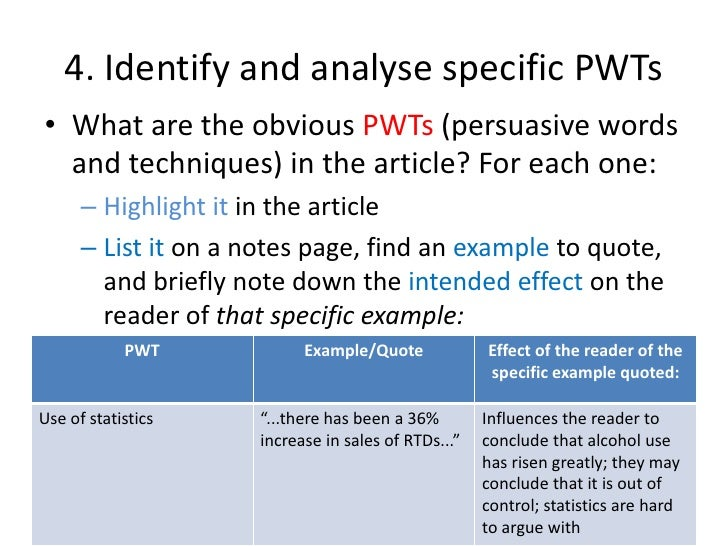 analysis of an article example