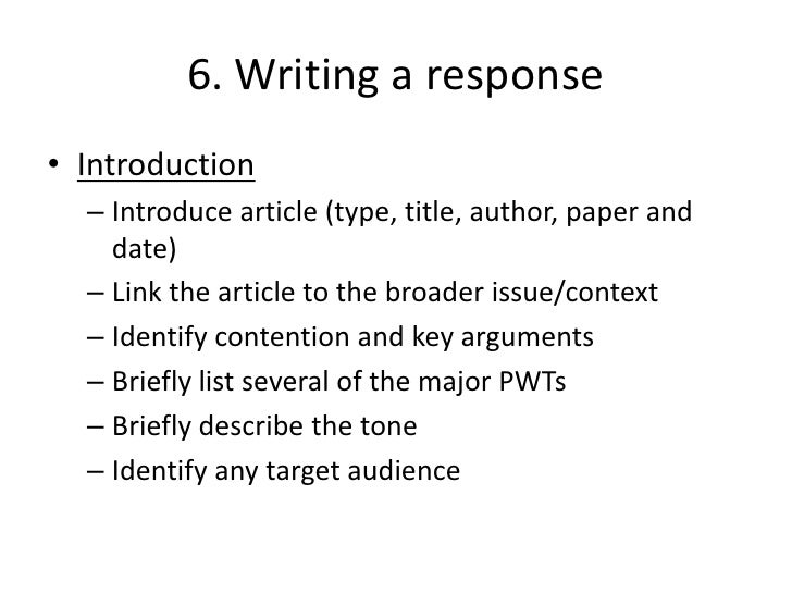 How to Write a Response Essay (Reaction Essay)