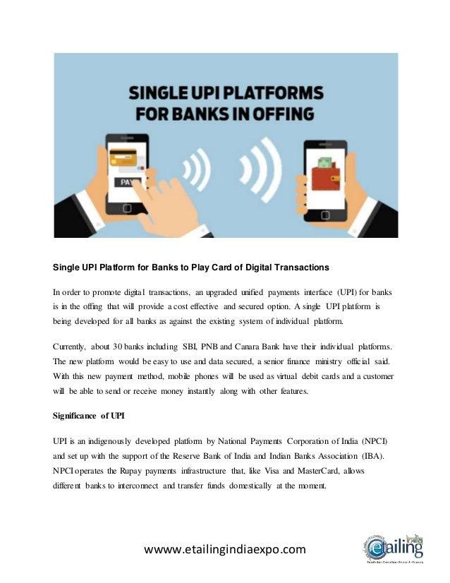 1 Microsoft Wwww Bing Com: Single Upi Platform For Banks To Play Card Of Digital