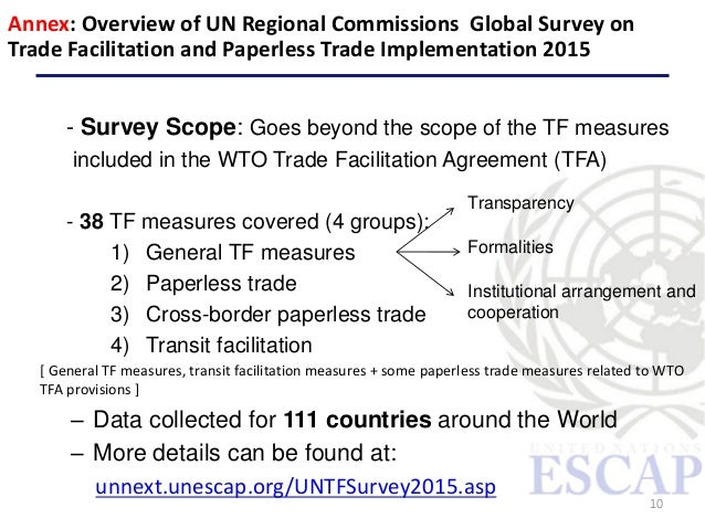 Single Window For Trade Facilitation In Asia And The Pacific By Un Es