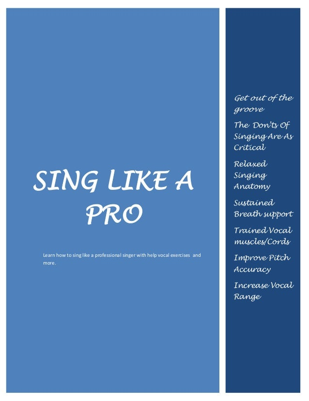 how to sing like a professional