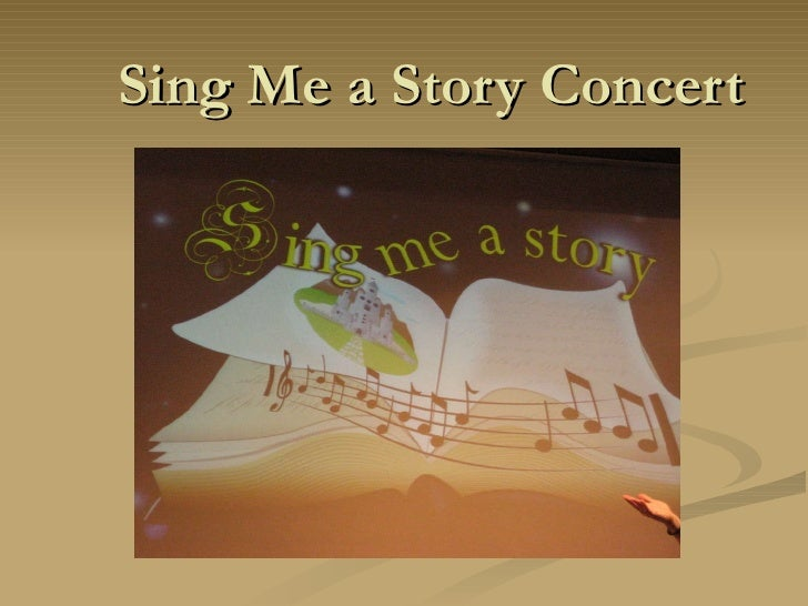 Sing Me a Story Concert