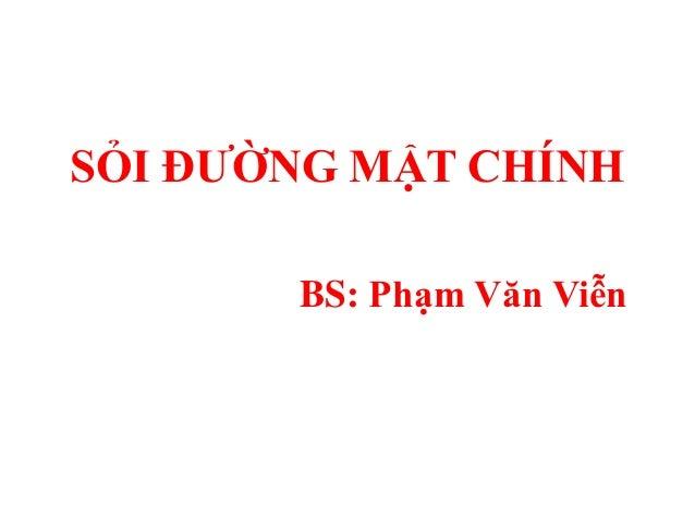 SỎI ĐƢỜNG MẬT CHÍNH       BS: Phạm Văn Viễn