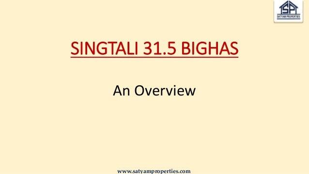 SINGTALI 31.5 BIGHAS An Overview www.satyamproperties.com