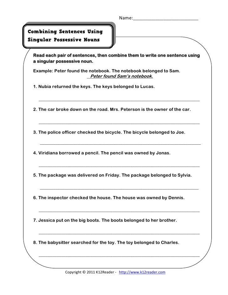 sentence combining pdf worksheets for grade 3