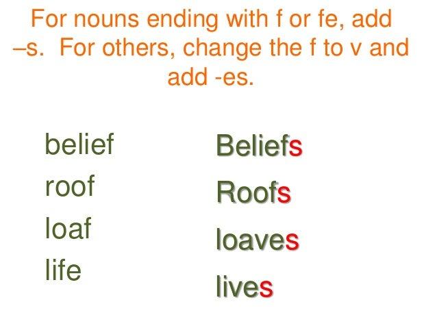 Singular And Plural Nouns Unit 2