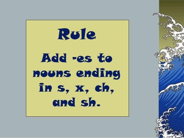 PPT Singular and plural nouns