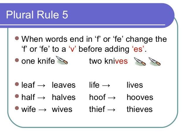 Singular & plural rules