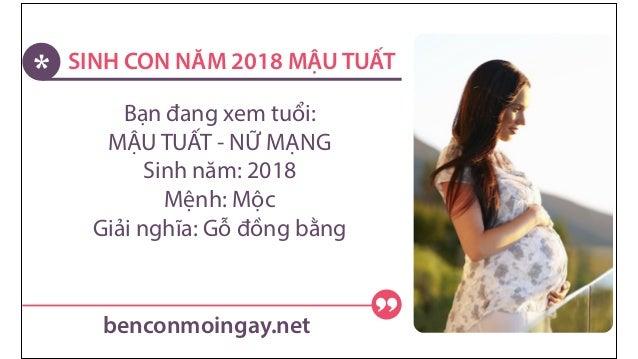 SINH CON GÁI NĂM 2018 MỆNH GÌ? 2.