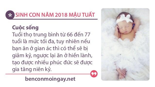 SINH CON NĂM 2018 MẬU TUẤT benconmoingay.net; 4. Cuộc sống Tuổi ...