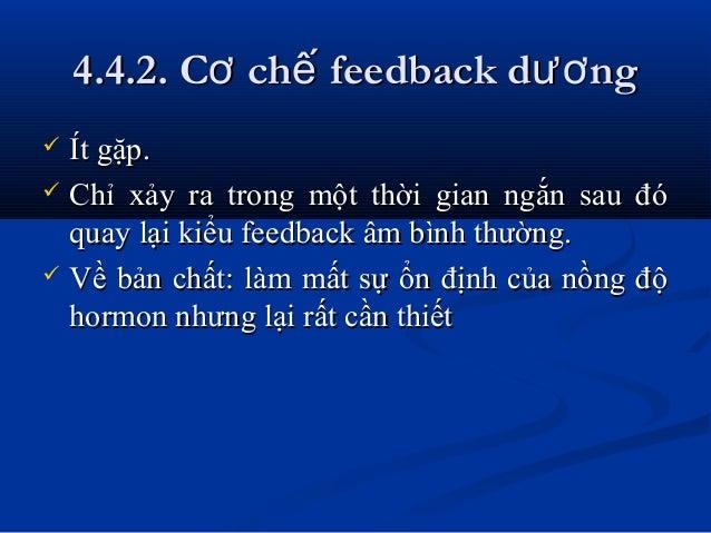 4.4.2. C ch feedback d ngơ ế ươ4.4.2. C ch feedback d ngơ ế ươ  Ít gặp.Ít gặp.  Chỉ xảy ra trong một thời gian ngắn sa...