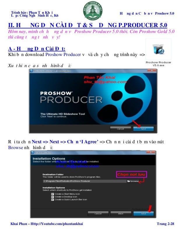 proshow producer 5.0 khong can crack