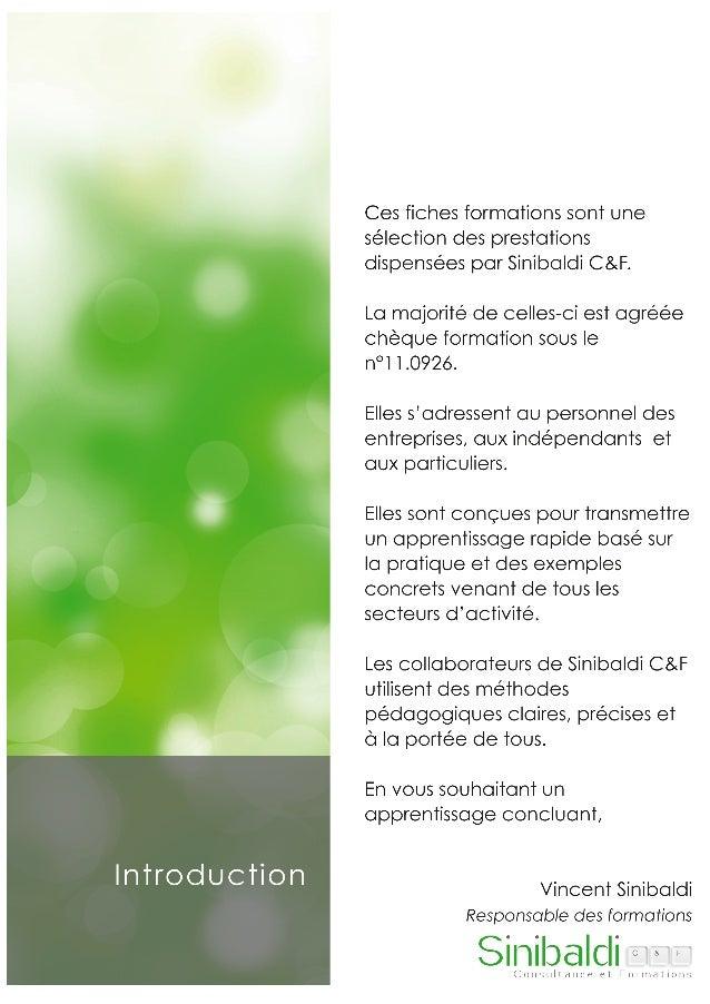 Sinibaldi C&F - Catalogue de formations Slide 2