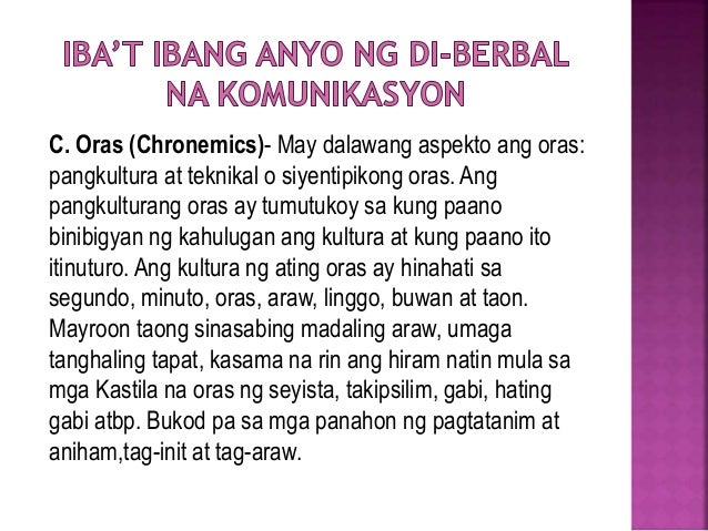 Sining Ng Pakikipagtalastasan Fil 101 Chronemics is the study of the use of time in nonverbal communication. sining ng pakikipagtalastasan fil 101