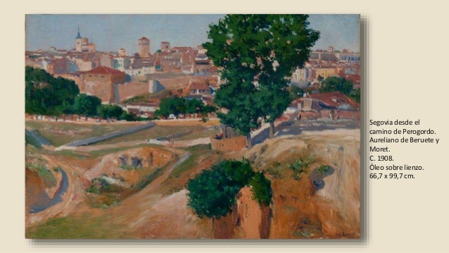 Paisaje de otoño. Mariano Barbasán y Lagueruela. 1918. Óleo sobre lienzo. 27,9 x 40,3 cm.