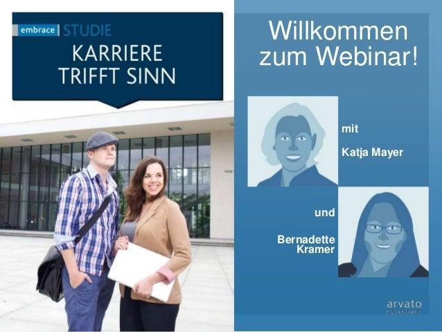 Willkommen zum Webinar! Titelbild mit Katja Mayer und Bernadette Kramer