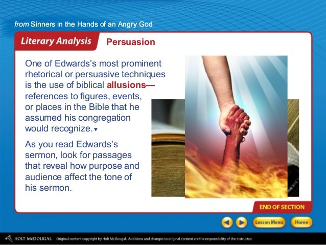 sinners in the hands of an angry god rhetorical analysis